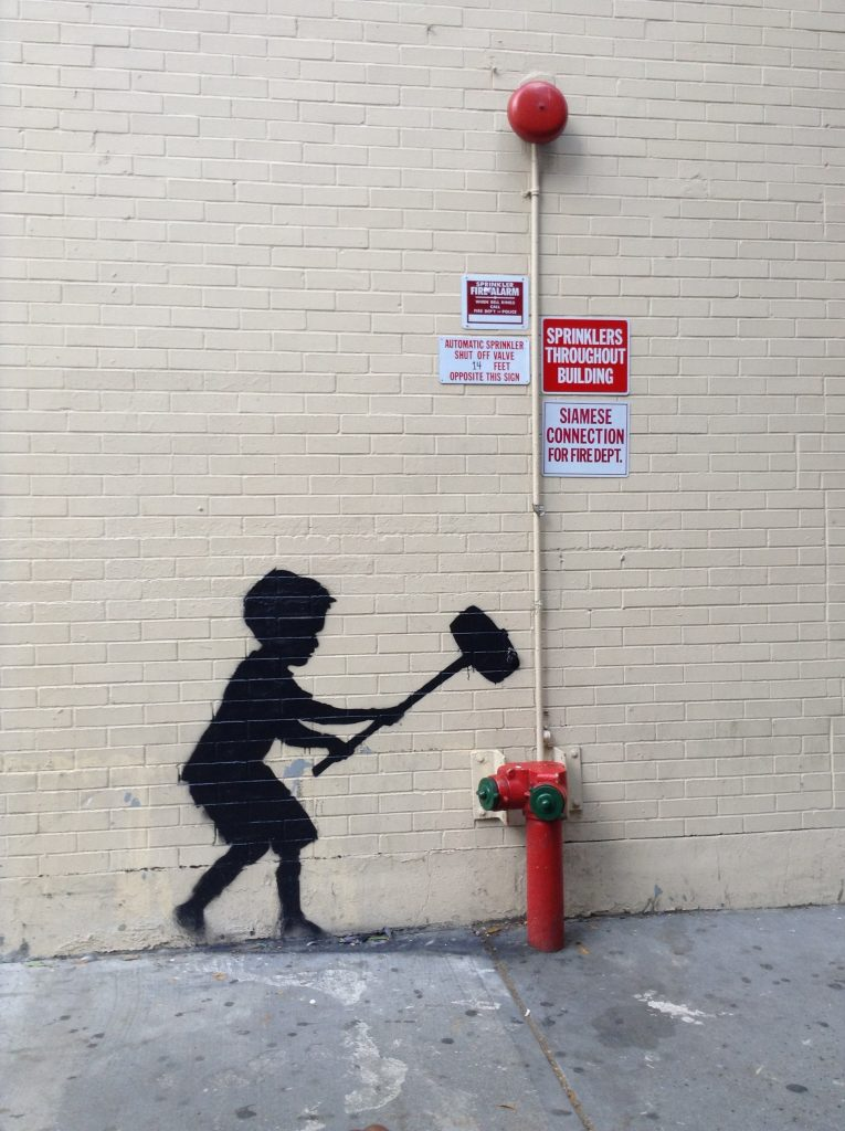Hammer Boy by Banksy